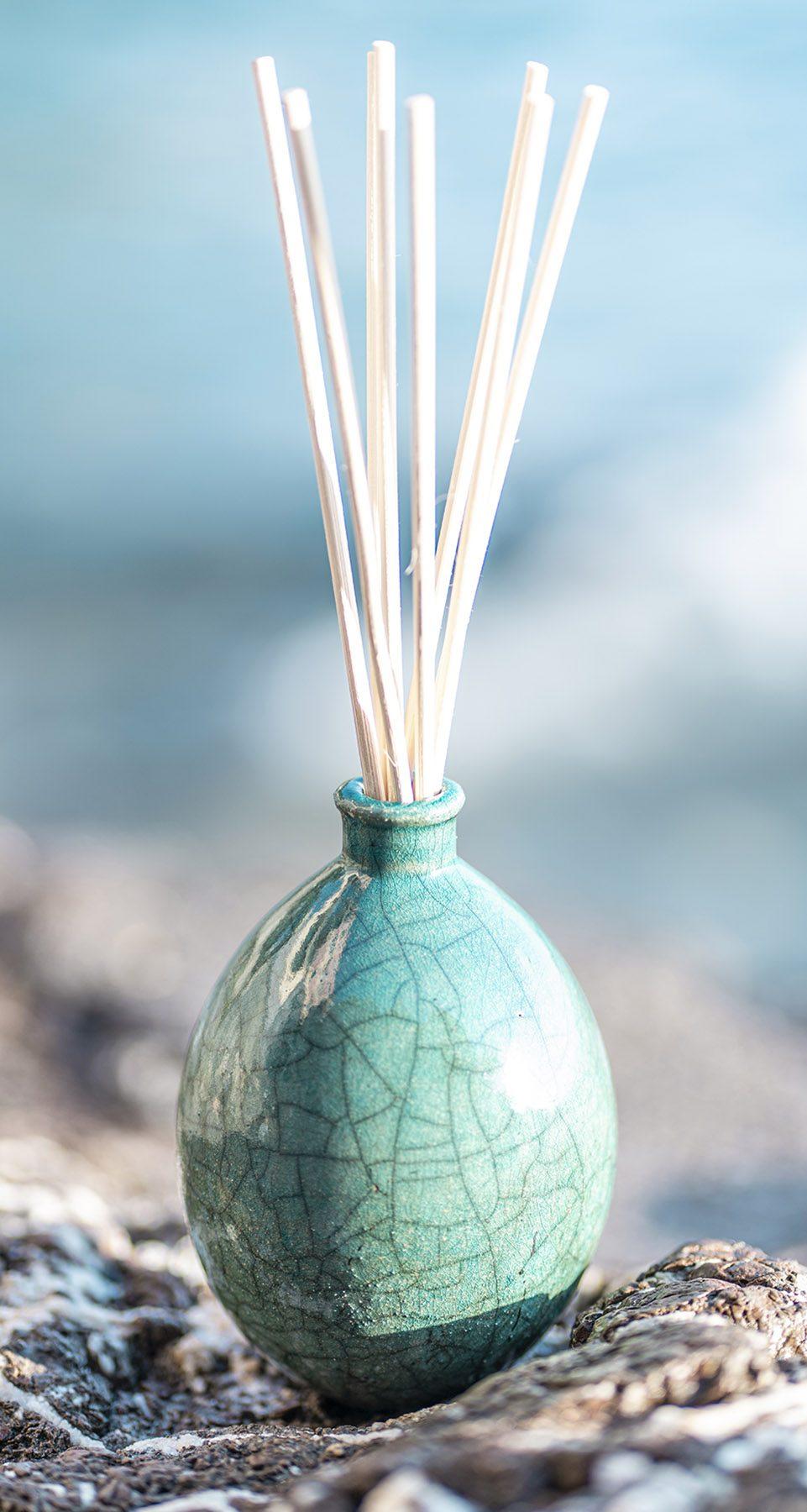 vaso-verde-acqua-raku-collection