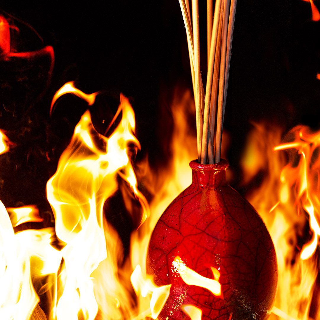 vaso-rosso-raku-collection