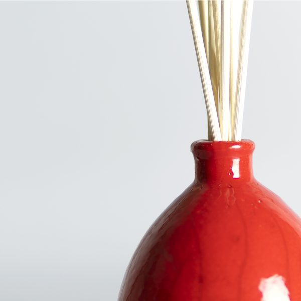Raku Vase Red_Detail Limited Edition
