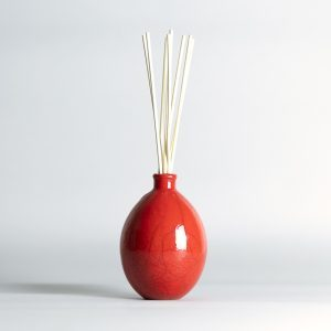 Raku Vase Red Limited Edition