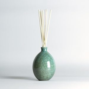 Raku Vase Teal Limited Edition