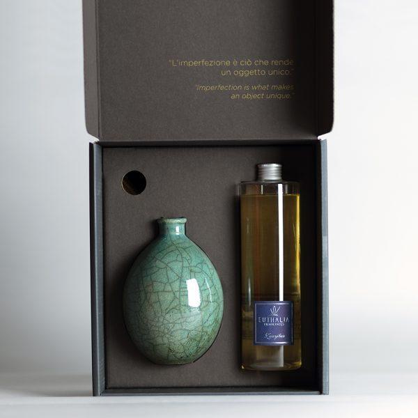 Vaso Raku Verde Acqua Gift Box Limited Edition